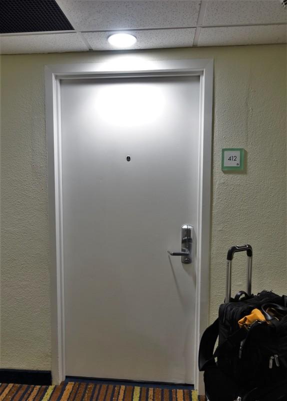 San Juan Airport Hotel Review queen room door