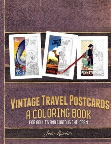 Vintage Travel Postcards adult coloring books