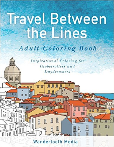 travel between the lines adult coloring book