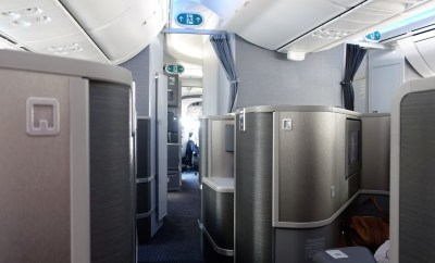 American Airlines Business Class 787 interior