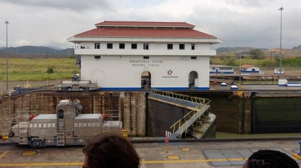 Miraflores Locks Panama Canal crosswalk