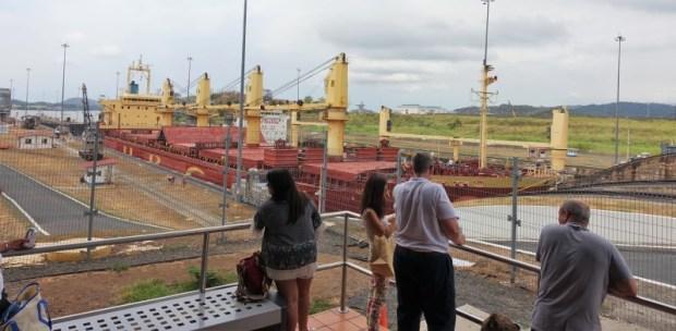 Miraflores Locks Panama Canal ground floor viewing