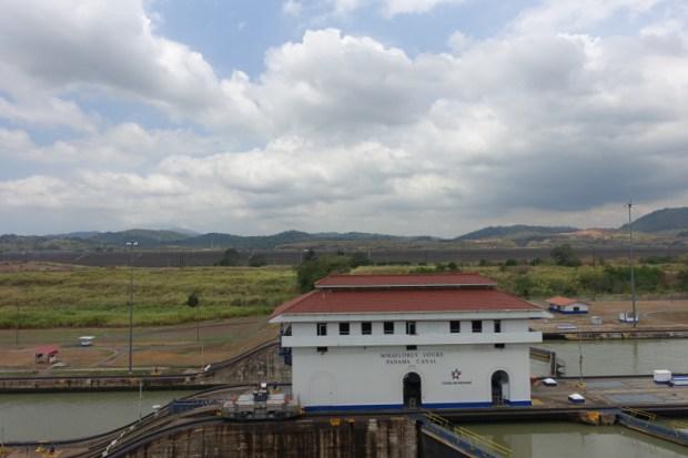 Miraflores Locks Panama Canal new construction