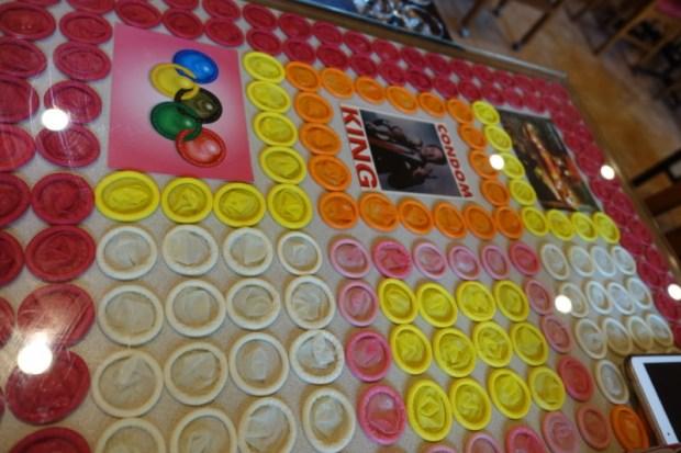 Cabbage and Condoms Bangkok Restaurant Review condom table decor