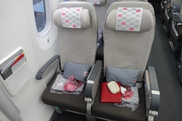 JAL premium economy 787 exit row
