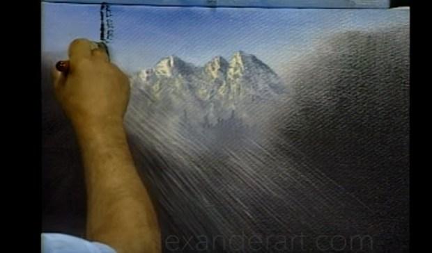art of alexander sunlight canvas trees