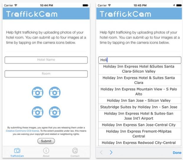 traffickcam app mockup