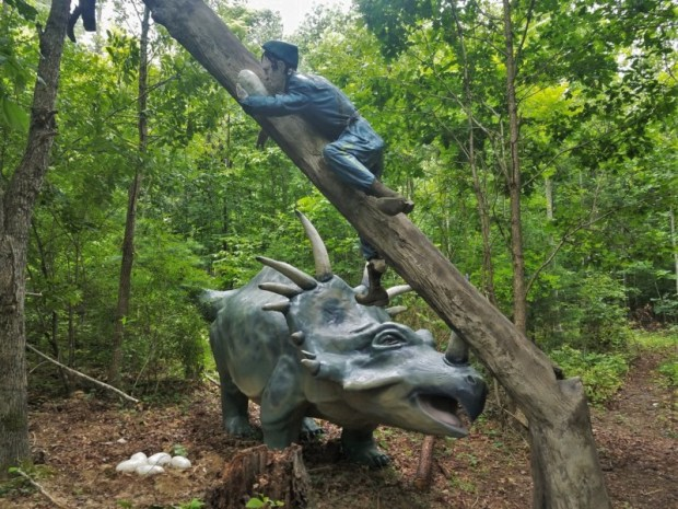 Dinosaur Kingdom II Natural Bridge VA stealing eggs