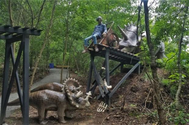 Dinosaur Kingdom II Natural Bridge VA triceratops
