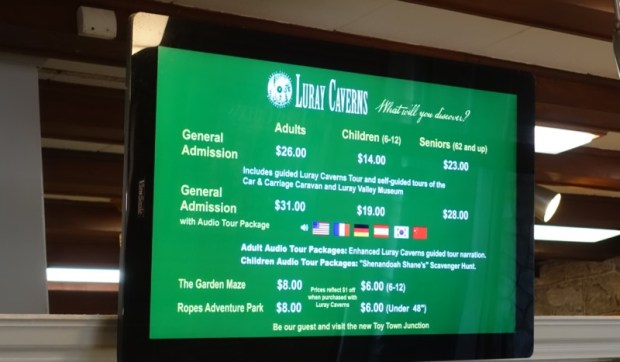 Luray Caverns Admission Prices