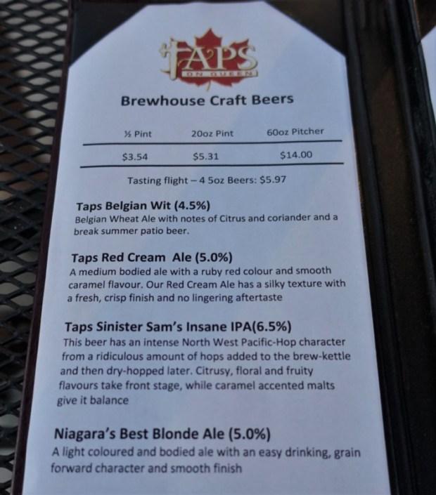 Niagara Falls Breweries Taps on Queen Beer List
