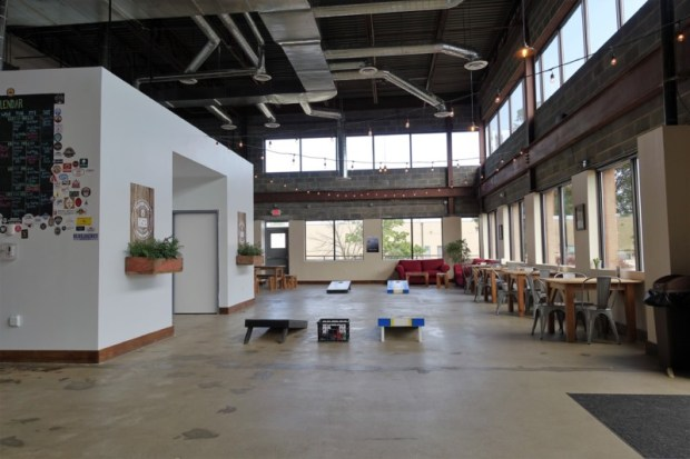 Mustang Sally offers lots of space to relax and even play corn hole.