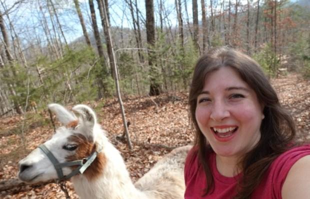 smoky-mountain-llama-treks-selfie