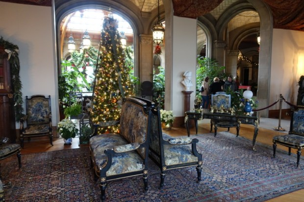Biltmore Estate Christmas sitting room