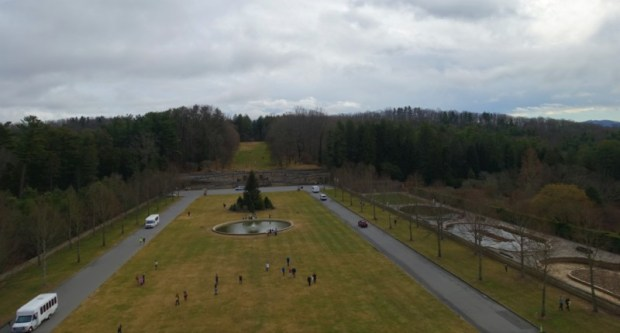 Biltmore Estate rooftop tour view