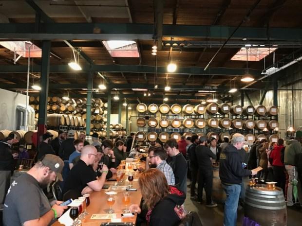 The Rare Barrel SF Beer Week Wicked Weed crowd