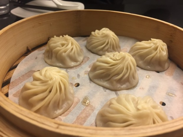 Xiaolongbao (soup dumplings) at Din Tai Fung San Jose