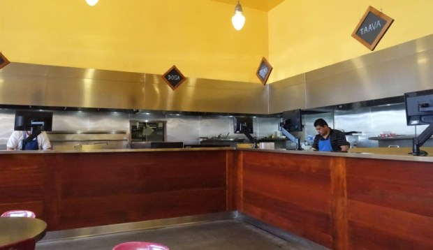Vik's Chaat Berkeley Indian Food pick up counter