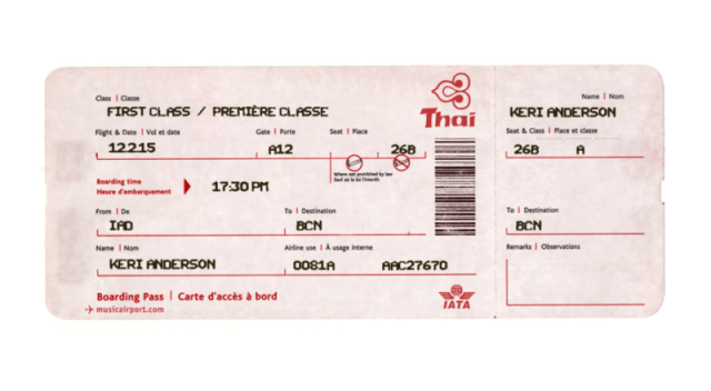 Editable Airline Ticket Template - FREE DOWNLOAD