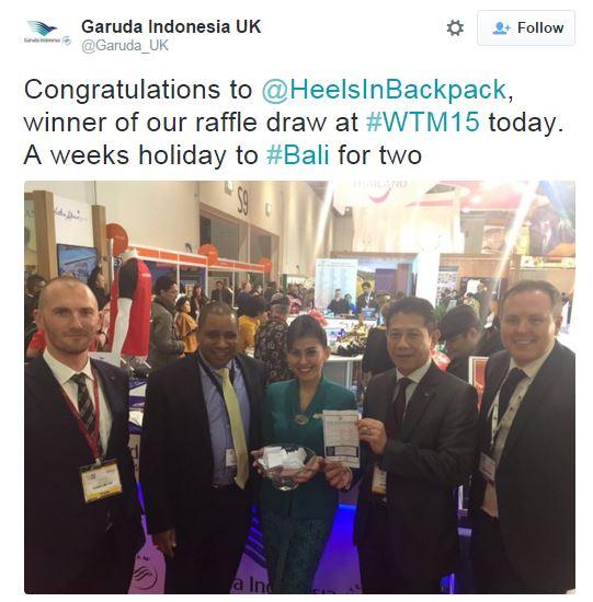 Garuda Competition Winner at WTM