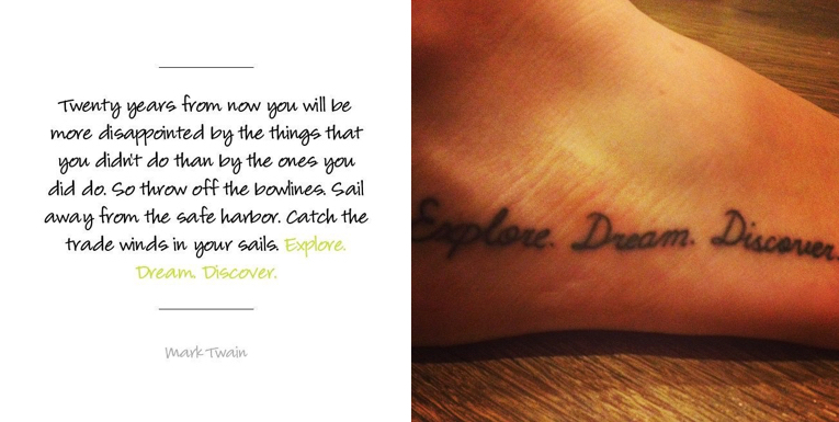 Travel Quote Tattoo