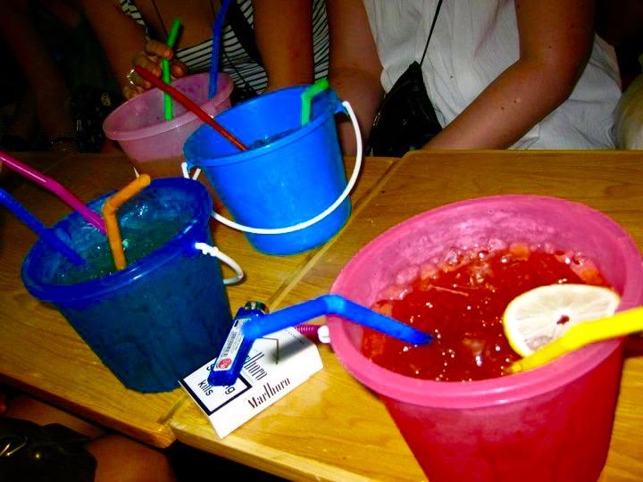 Bangkok buckets on Khao San Road