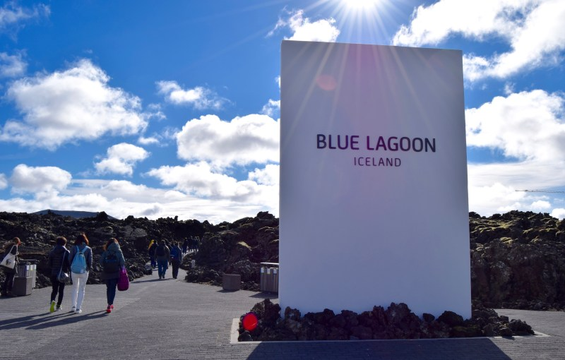 Blue Lagoon entrance, Iceland