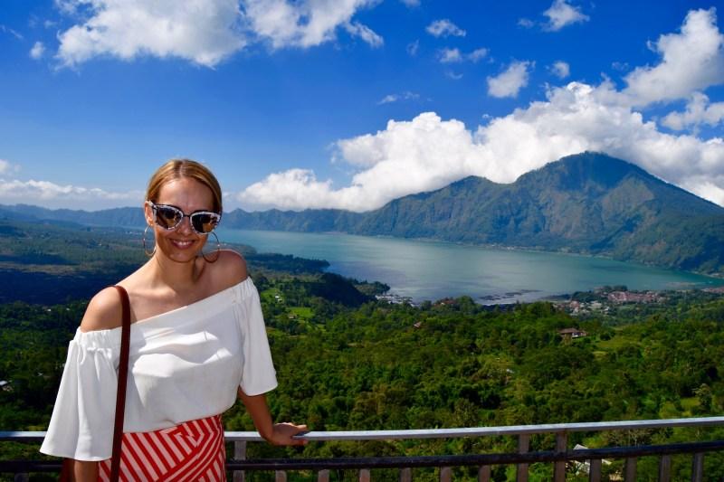 Lunch overlooking Mount Batur, Bali