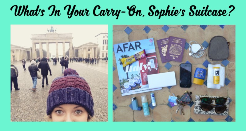 What's in your carry-on, Sophie's Suitcase?