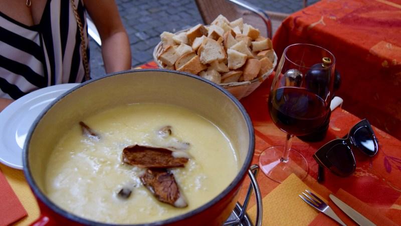 Cheese fondue in Geneva, Switzerland