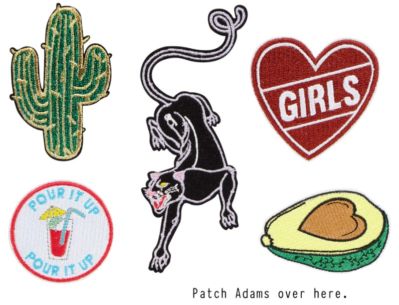 Backpack patches from Skinnydip