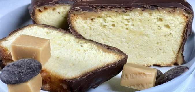 Chocolade caramel-fudge cake