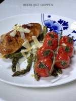 Gegrilde balsamico groenten met kip