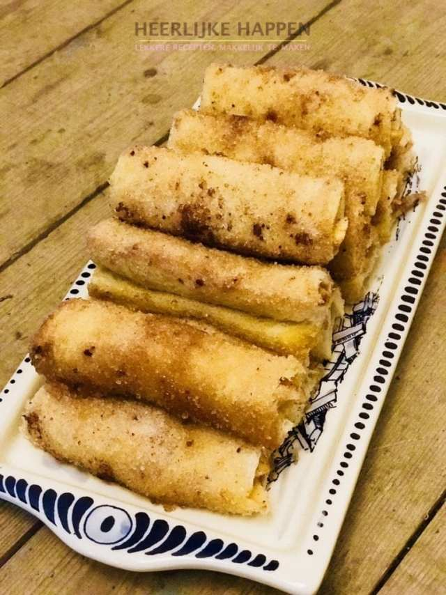 Apple-pie rolletje met mascarpone-slagroom