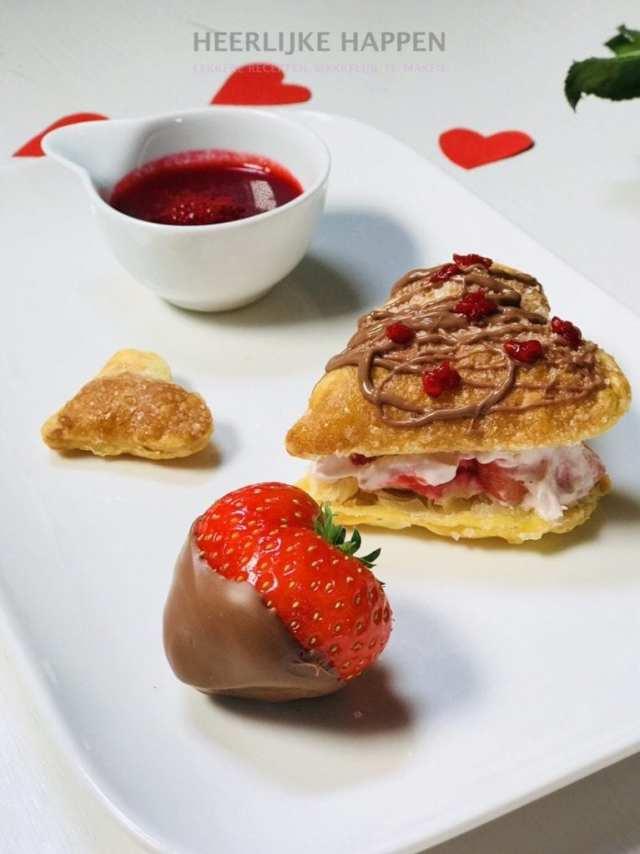Valentijnsdag hartjes toetje