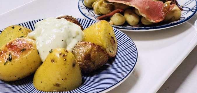 Tapas tuinboontjes met tijm aardappeltjes