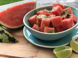 Super frisse watermeloen salade
