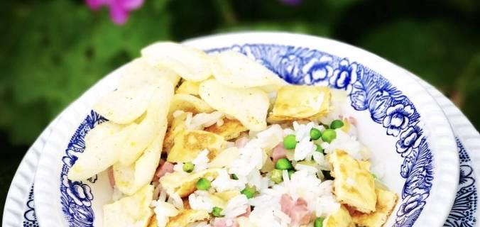 kantonese rijst met omelet