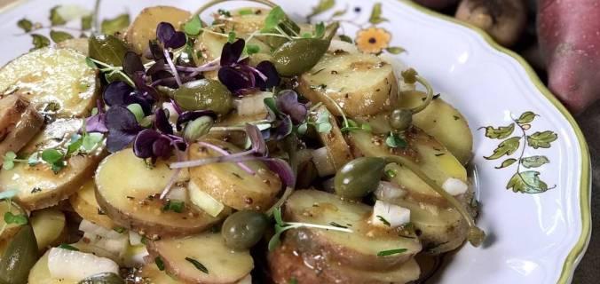 Buitenbeentjes salade met Dijon dressing