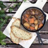 Irish stew met soda bread