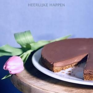 No-bake chocolade mascarpone taart