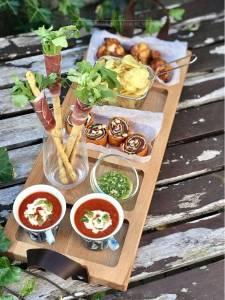 Goed gevulde streetfood plank