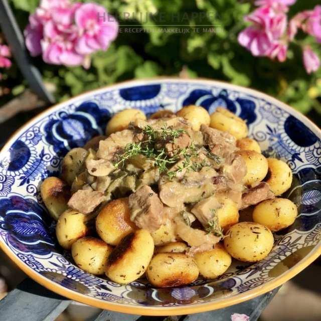 Franse stoofpot met gebakken krieltjes
