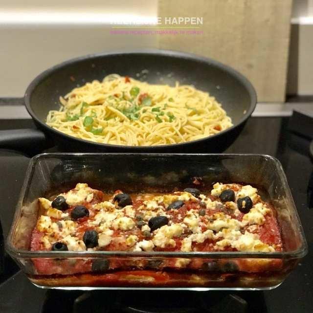 Kip uit de oven met knoflookpasta