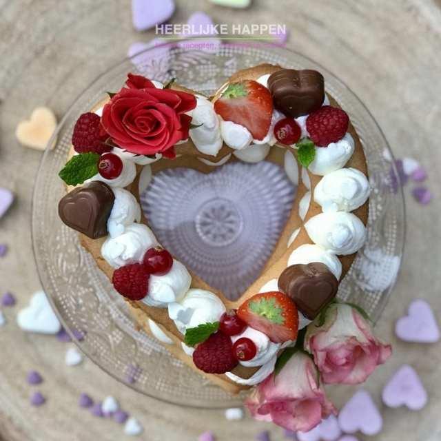 Valentijnstaartje om je lief mee te verrassen