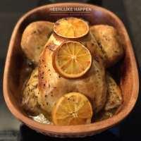 Bloedsinaasappel kip uit de römertopf