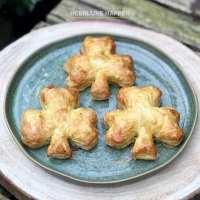 St Patricksday shamrock pastry