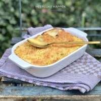 Witlofschotel met gorgonzola en hamblokjes