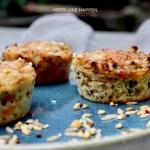 Quinoa cupcakes met gruyèrekaas