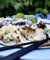 Mafaldine pasta met portobellosaus